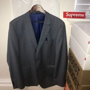 Hugo Boss Blazer Grey XL. Fitted.